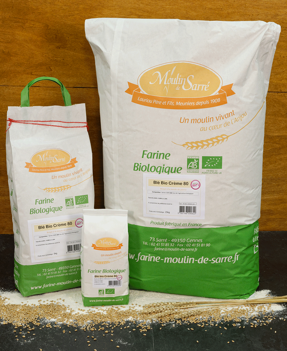 farine de blé creme biologique